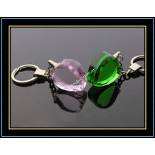 Pink Heart Crystal Keychains for Souvenir Gift (kc07)
