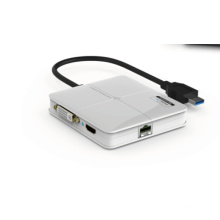 USB 3.0 to DVI Multi display adapter supplier,support for up to 6 additional USB Displays