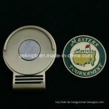 Benutzerdefinierte Golf Ballmarker Hatclip mit Magnet
