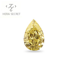 ForeverFlame  fancy yellow 13ct Pear Cut big diamond CVD CZ color Moissanite