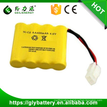 rechargable battery ni-cd aa 4.8v 800mah battery pack for toy
