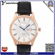 Yxl-512 Double Date Function Custom Geneva Watches for Men, Profession Assembling Quartz Sport Wrist Watch
