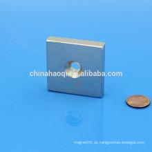 Block NdFeB NIB Neo ndfeb Magnet mit Gewindebohrung