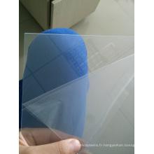 Feuille de PVC transparent pour les verres