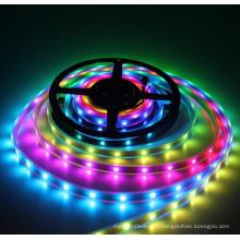5 В постоянного тока Водонепроницаемый IP67 повторенная кухня черный PCB WS2812B программируемый RGB светодиодные полосы