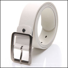 square buckle white woman leather belt