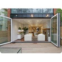 Mehrfache Offenheit Faltbare Doppelglas Aluminium Türen