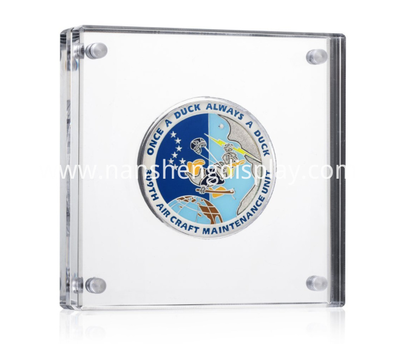 Clear Acrylic Medals and Coins Display Holder