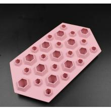 Bentuk Berlian Fancy Silicone Ais Permata Jelly Mold