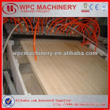 Linha de produção de madeira e plástico