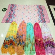Tissu de Voile de femmes de couleur de vente chaude de mode chaude pour l'écharpe