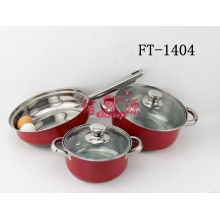 Stainless Steel Grill Fry Pan Set (FT-1404-XY)