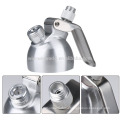 Small MOQ spray silver color whole aluminum whiping cream 1 Pint with nozzles and holder