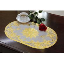 Uso popular do tamanho 30 * 46cm do Tablemat do ouro do laço do PVC do projeto / uso do café / partido