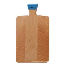 Tabla para cortar madera de haya con mango pintado