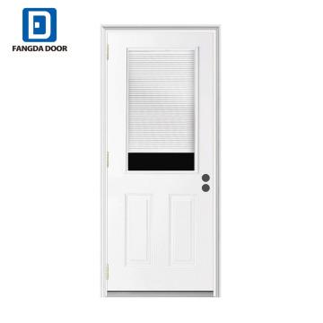 Stores intérieurs Fangda peints portes à persiennes en métal blanc