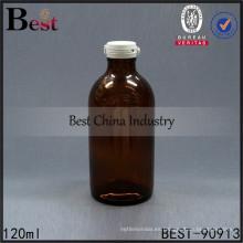 botella líquida de cristal ambarina farmacéutica 4oz botellas de la medicina 120ml, 1-2 muestras libres