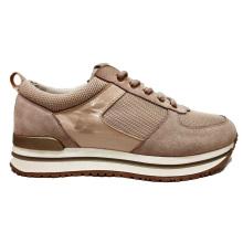 Los zapatos deportivos de cuero populares para mujer Zapatillas de deporte cotidianas