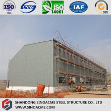 Peb Steel Structure High Rise Workshop Cobertizo con grúa