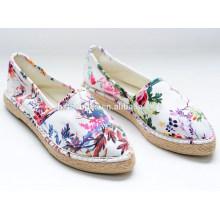 2015 neue Art schöne Mädchen Segeltuch beiläufige Schuhe junge Mädchen espadrilles Schuhe