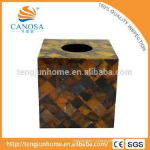 Торговое обеспечение Природный ремесло Pen Shell площади Tissue Box Holder