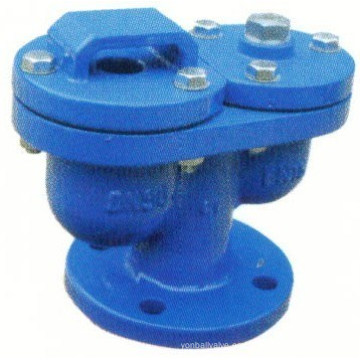 Válvula de aire de extremo de brida automática de hierro dúctil