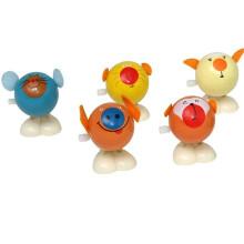 Прыгающая игрушка животных дети деревянные игрушки для прыгающих животных