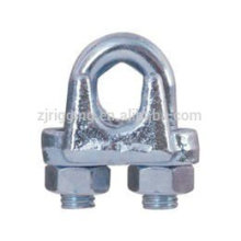 Malleable wire rope clip with TYPE A