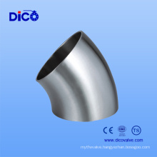 Food Grade Sanitary Butt Weld Stainless Steel Elbow