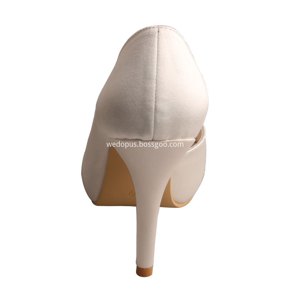 Ivory Satin Wedding Shoes