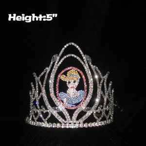 5in Height Crystal Alice Princess Crowns