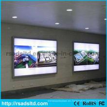 Caja de luz popular de la tela doble del lado LED