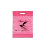 Promoção saco de plástico de qualidade superior com alça aceitar logotipo impresso