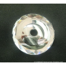 Flat Back Glass Beads with Hole for Jewelry