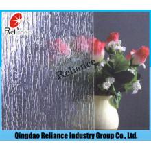 3 mm Banboo / Rainy / Flora / Nashiji Verre à motif / figuré clair