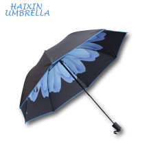 Factory Wholesale Custom Photo Flower Print Inside Summer Taobao Umbrella With Anti UV For Advertisement