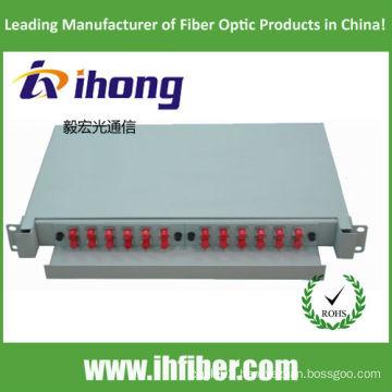 Fiber Optic Termination Box Rack mount, slidable. FC24 Port