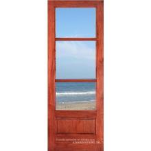 Holz gerahmt 3 Lite Glas Tür Küchendesign