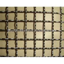 Aço inoxidável / aço crimped wire mesh