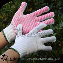SRSafety 10G String knit coated pvc dotted cotton glove