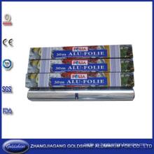 Papel para comida de aluminio para uso doméstico para llevar