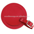 Round luggage tag leather as gift idea