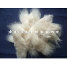 Combed and Worsted Sheep Wool Open Tops White 18.5mic/44mm