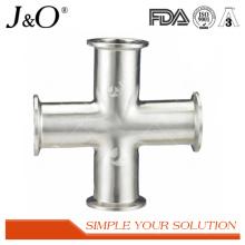 Sanitary Stainless Steel Clamp Cross Pipe Tube Fittings