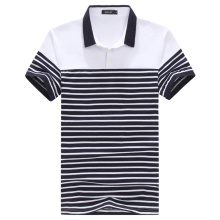 Hot Sale High Quality Stripe Print Polo Shirt for Men