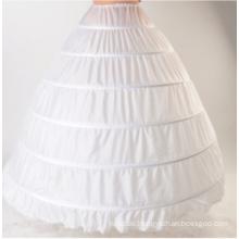 6 Hoops Tutu Chiffon Puffy Petticoat Weiß Ballkleid Petticoats Braut Petticoats