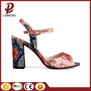 print serpentine covered itself thick heel sandals