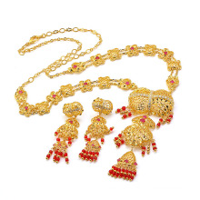 Special Luxury 24k Gold Imitation Jewelry Zircon Fashion Set 60268