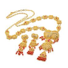 A forma de imitação especial 60268 do zircão da joia do ouro 24k luxuoso do luxo ajustou-se