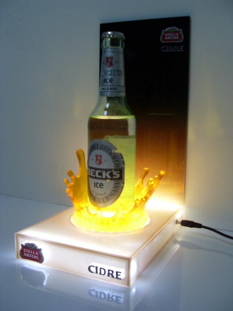 beer bottle glorifier Beck's